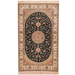 Herat Oriental Indo Hand-knotted Kashmiri Silk Rug (3' x 5')
