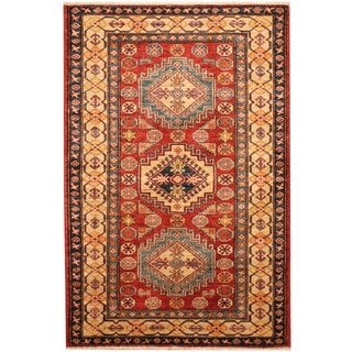Herat Oriental Afghan Hand-knotted Tribal Kazak Wool Rug (3' x 4'8)