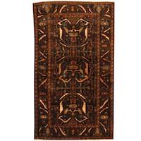 Herat Oriental Afghan Hand-knotted Tribal Balouchi Wool Rug (3'9 x 6'5)