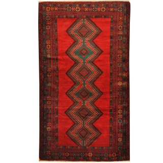 Herat Oriental Afghan Hand-knotted Tribal Balouchi Wool Rug (4' x 6'10)