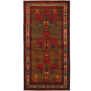 Herat Oriental Afghan Hand-knotted Tribal Balouchi Wool Rug (3'4 x 6'5)
