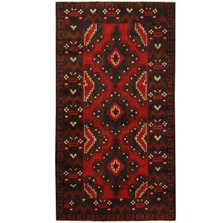 Herat Oriental Afghan Hand-knotted Tribal Balouchi Wool Rug (3'7 x 6'5)