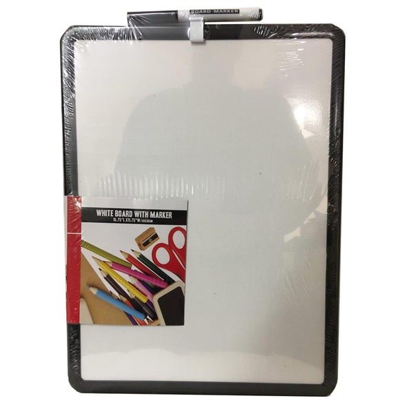 Plastic Whiteboard with Black Marker