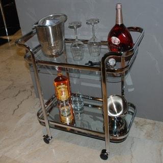 Silver Orchid Heston Metal/ Glass 2-tier Trolley