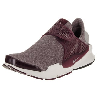 Nike Women's Sock Dart SE Night Maroon/Iron Ore Laceless Running Shoe
