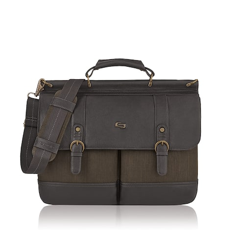 Solo Bradford Brown Vinyl 15.6-inch Laptop Briefcase