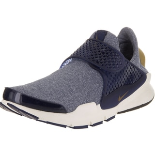 Nike Women's Sock Dart SE Midnight Navy and Golden Beige Textile Running Shoe