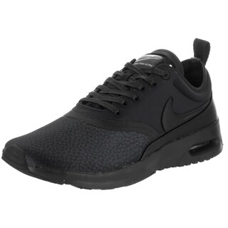 Nike Women's Air Max Thea Ultra Premium Black and Cool Grey Faux Leather Running Shoe