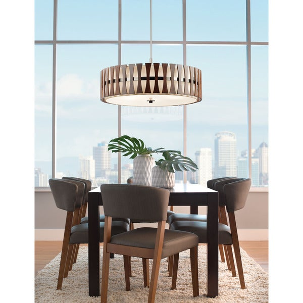 Shop Kichler Lighting Cirus Collection 48light Auburn Stained Finish Delectable Kichler Dining Room Lighting