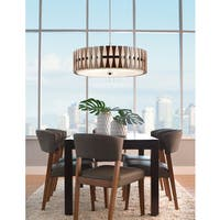 Kichler Lighting Cirus Collection 5-light Auburn Stained Finish Pendant/Semi Flush Mount