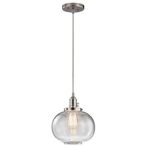 Carbon Loft Reno 1-light Brushed Nickel Orb Glass Mini Pendant