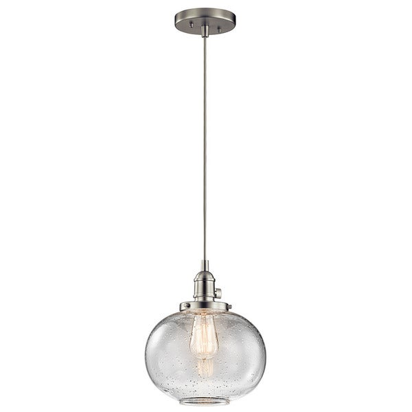 Shop kichler lighting avery collection 1 light brushed nickel mini kichler lighting avery collection 1 light brushed nickel mini pendant aloadofball Image collections