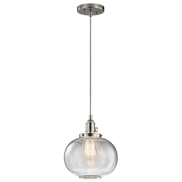 Kichler lighting avery collection 1 light brushed nickel mini kichler lighting avery collection 1 light brushed nickel mini pendant aloadofball Images
