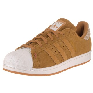 Adidas Men's Superstar Originals Brown Suede Casual Shoes