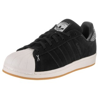 Adidas Men's Superstar Originals Black Suede Casual Shoe