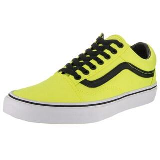 Vans Unisex Old Skool Brite Neon Yellow and Black Canvas Skate Shoe