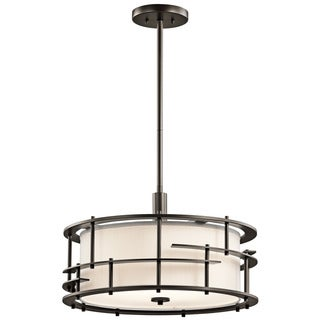 Kichler Lighting Tremba Collection 4-light Olde Bronze Pendant/Semi Flush Mount