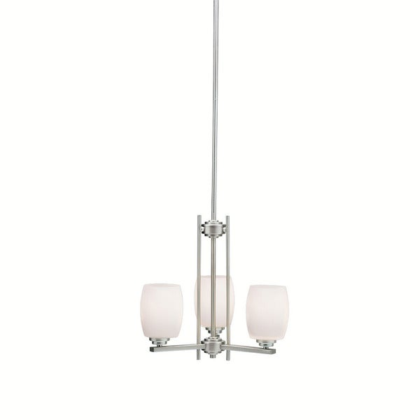Kichler Lighting Eileen Collection 3-light Brushed Nickel Mini Chandelier