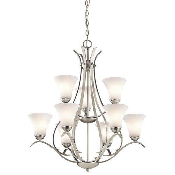 Copper Grove Braeview 9-light Brushed Nickel Chandelier