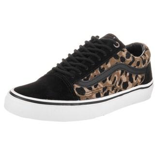 Vans Unisex Old Skool Black Italian Weave Suede Skate Shoes