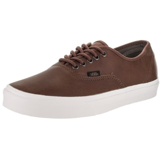Vans Unisex Authentic Brown Leather Skate Shoes