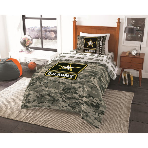 The Northwest Company ENT 876 Army Camo Twin Comforter