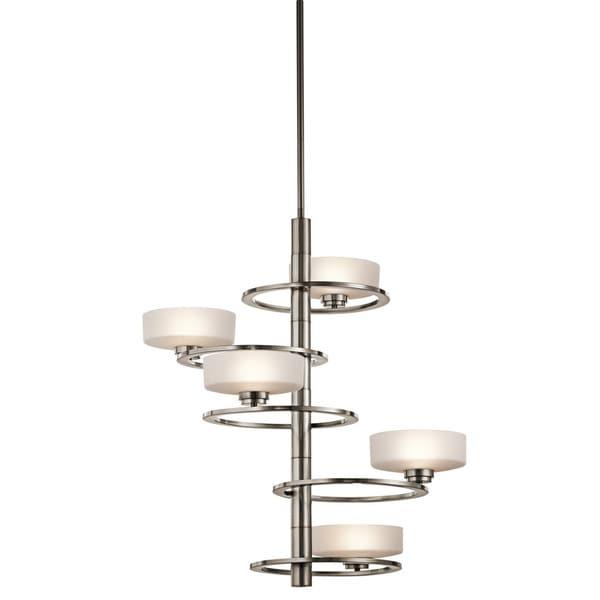 Kichler Lighting Aleeka Collection 5-light Classic Pewter Foyer Halogen Chandelier