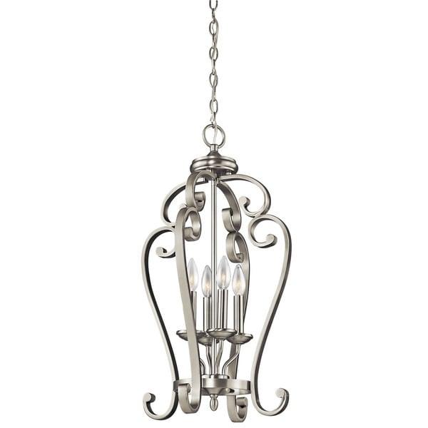 Kichler Lighting Monroe Collection 4-light Brushed Nickel Foyer Pendant