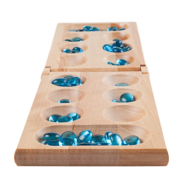 Shop Hey Play Wooden Folding Mancala Game Free Shipping On