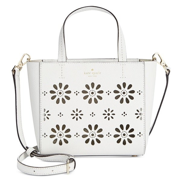 8698b7b48978 Shop Kate Spade New York Faye Drive Small Hallie Perforated Leather  Crossbody Handbag - Free Shipping Today - Overstock - 13680084