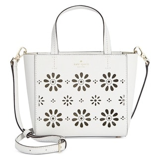Kate Spade New York Faye Drive Small Hallie Perforated Leather Crossbody Handbag