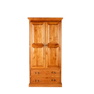 Forest Designs Brown Wood 2-drawer Traditional Wardrobe