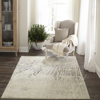 "Machine Made Devere Ivory Polyester with Polypropylene Rug (3'11"" x 5'7"")"