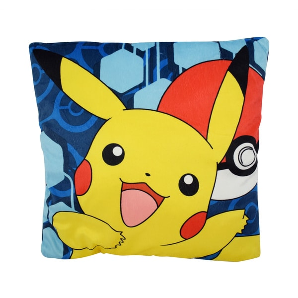 Pokemon Pikachu Pokeball Multicolor Polyester Train Me Pillow