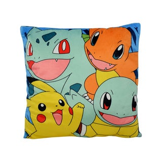 Pokemon Hero Charmander, Pikachu, Squirtle, Ivysaur Polyester Plush Pillow