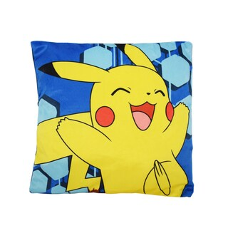 Pokemon 25 Rules Pikachu Multicolored Polyester Pillow