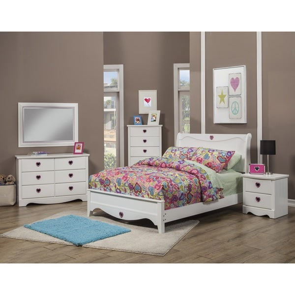 Sandberg Furniture Sparkling Hearts Bedroom Set - Free Shipping ...