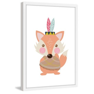 Marmont Hill - 'Hipster Fox' by Shayna Pitch Framed Painting Print