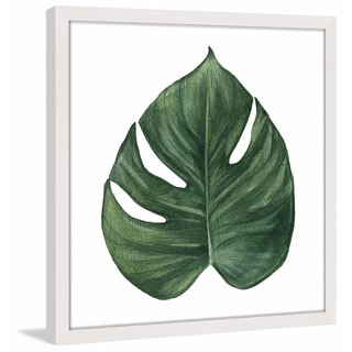 Marmont Hill - 'Top Leaf II' by Shayna Pitch Framed Painting Print