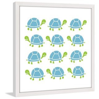 Marmont Hill - 'Turtle Stamp' by Shayna Pitch Framed Painting Print