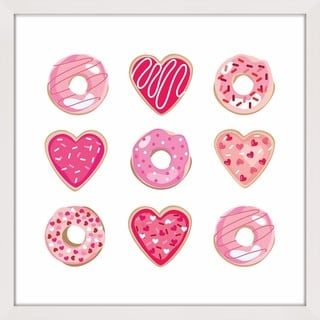 Marmont Hill - 'Valentine Cookies' by Shayna Pitch Framed Painting Print