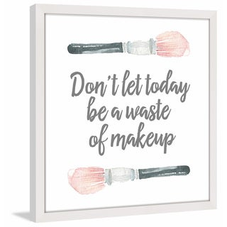 Marmont Hill - 'Waste of Makeup' by Shayna Pitch Framed Painting Print