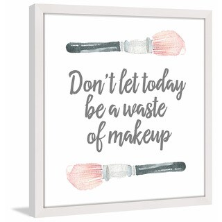 Marmont Hill - 'Waste of Makeup' by Shayna Pitch Framed Painting Print - Multi