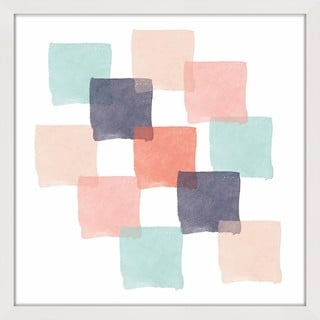 Link to Marmont Hill - Handmade Watercolor Squares Framed Print Similar Items in Art Prints