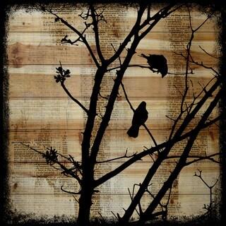 Marmont Hill - Handmade Vicki Butler Upstairs Neighbor Painting Print on Natural Pine Wood
