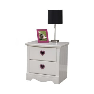 Sandberg Furniture Sparkling Hearts 2-Drawer Nightstand