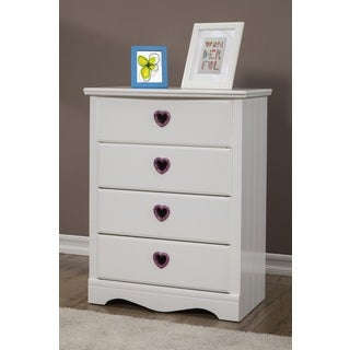 Sandberg Furniture Sparkling Hearts 4-drawer Chest