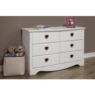Sandberg Furniture Sparkling Hearts 6-Drawer Dresser