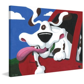 Marmont Hill - 'Joy Ride' by Mike Taylor Painting Print on Wrapped Canvas