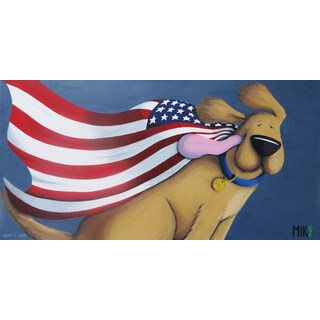 Marmont Hill - 'Freedom Is Golden' by Mike Taylor Painting Print on Wrapped Canvas